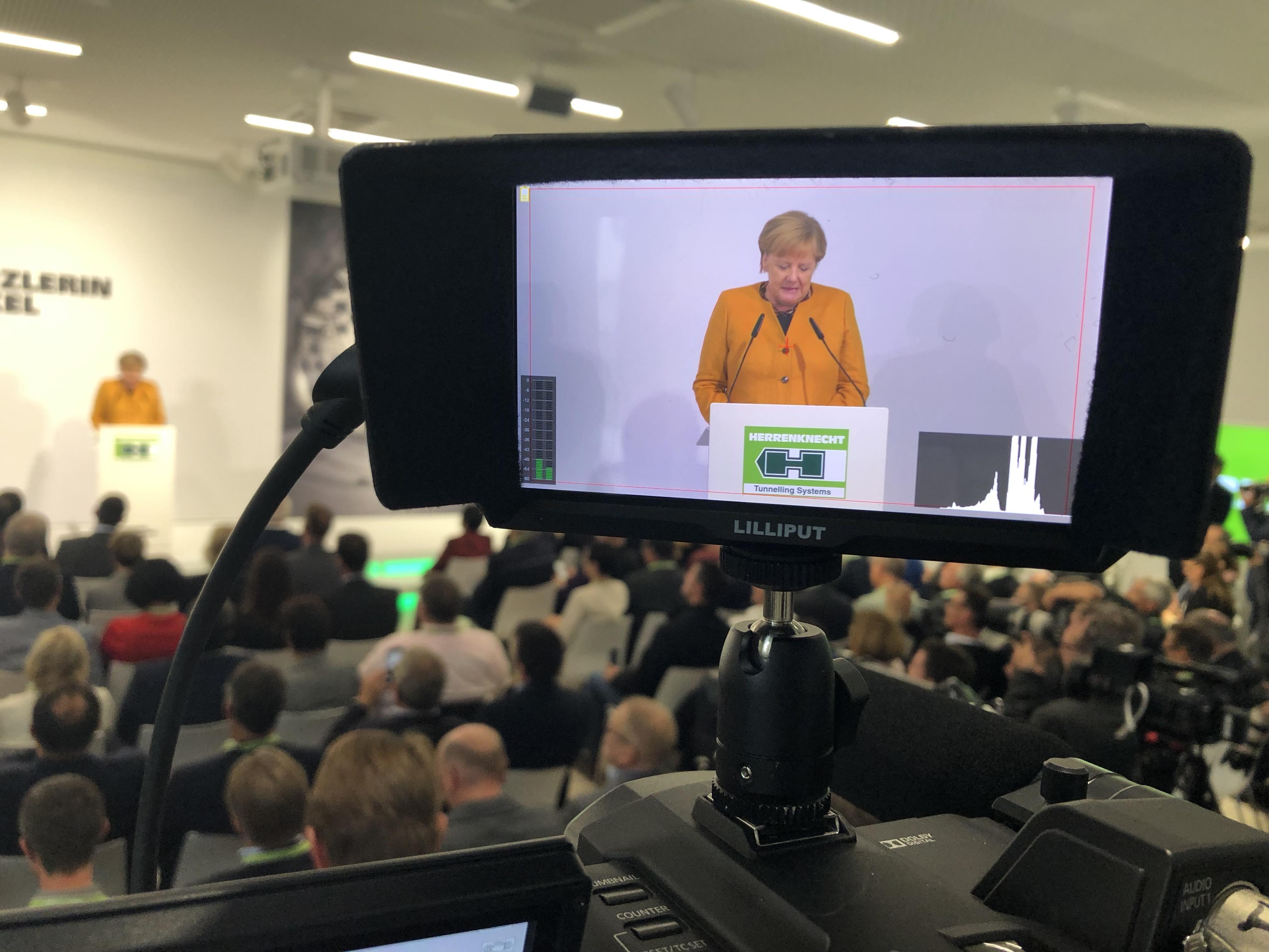 Herrenknecht Thomas Klatt Filmproduktion Merkel Besuch Schwanau TK IMAGES